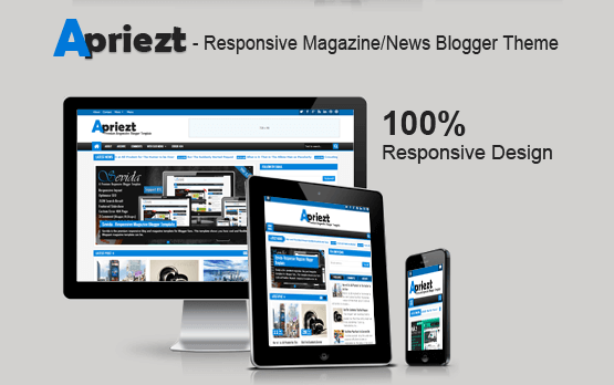 Apriezt Responsive Template for Blogger