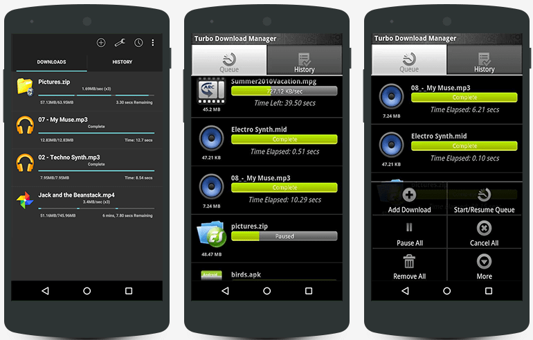 Turbo Download Manager for Android